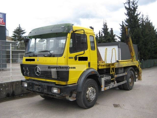1993 mercedes benz 1729 sk container spring m house truck over