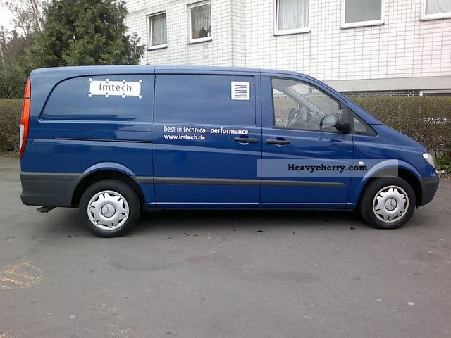 mercedes benz vito 115 cdi long climate 1a topzust 2009 box type delivery van photo and specs. Black Bedroom Furniture Sets. Home Design Ideas