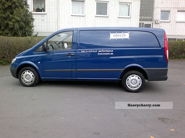 mercedes benz vito 115 cdi long climate 1a top condition 2009 box type delivery van long. Black Bedroom Furniture Sets. Home Design Ideas