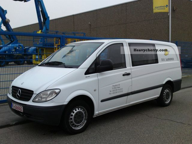 mercedes benz vito 111 cdi long 2005 box type delivery van long photo and specs. Black Bedroom Furniture Sets. Home Design Ideas