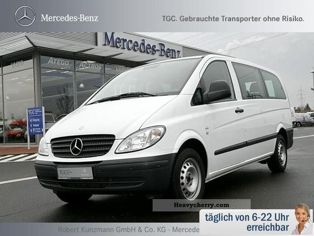 mercedes benz vito 115 cdi combi long 9 seater parktronic r 2009 estate minibus up to 9. Black Bedroom Furniture Sets. Home Design Ideas