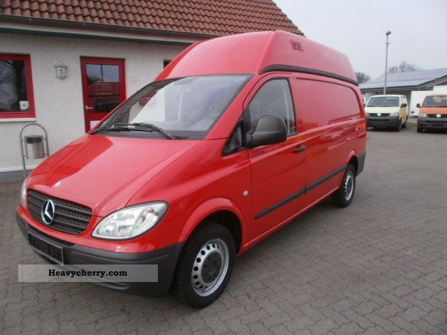 mercedes benz vito 109 cdi long dpf 4 2007 box type delivery van high and long photo and specs. Black Bedroom Furniture Sets. Home Design Ideas