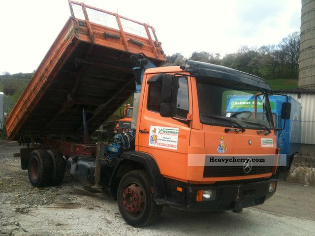 1992 Mercedes-Benz  1117 ** D-TIPPER CRANE MEILLER MK51R ** Truck over 7.5t Three-sided Tipper photo
