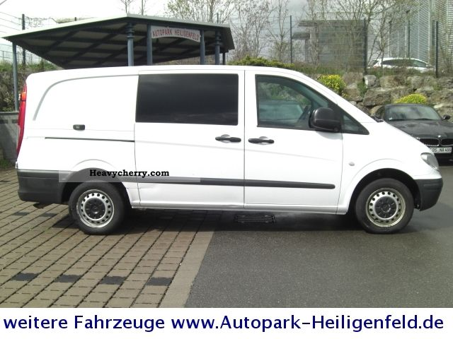 mercedes benz vito 109 cdi long climate 3sitzer 2009 box type delivery van long photo and specs. Black Bedroom Furniture Sets. Home Design Ideas