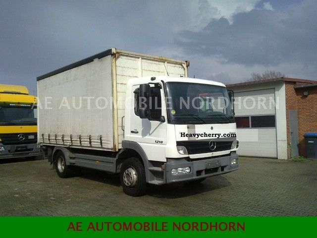 2005 Mercedes-Benz  Atego 1218 L 2006 model - Climate Truck over 7.5t Stake body and tarpaulin photo