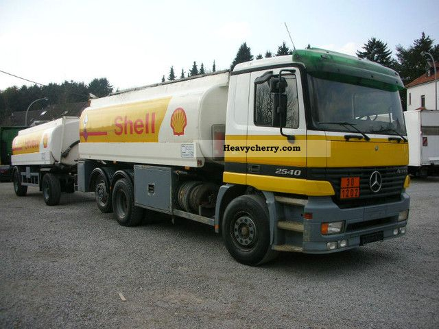 2002 Mercedes-Benz  2540 tank truck with trailer / tank testing in 2013 Truck over 7.5t Tank truck photo