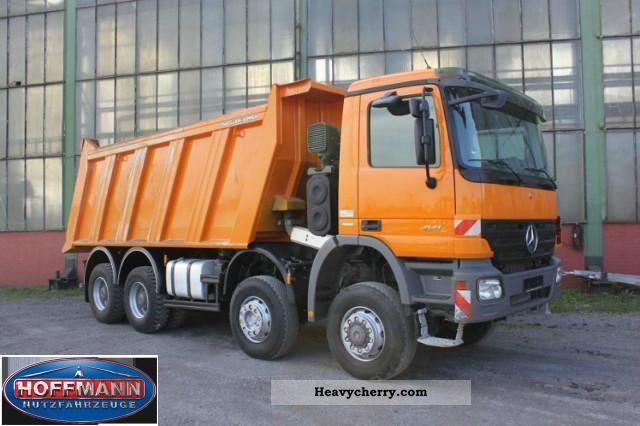 Mercedes benz 4141 k 8x6 dump truck 2008 tipper truck for Mercedes benz dump truck