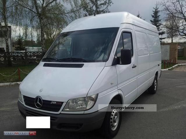 mercedes benz sprinter 211 cdi tip top a109km sredni 2003. Black Bedroom Furniture Sets. Home Design Ideas