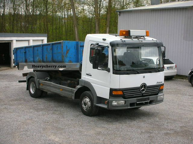 2002 Mercedes-Benz  818 Hook Multilift € 3 with container Van or truck up to 7.5t Roll-off tipper photo