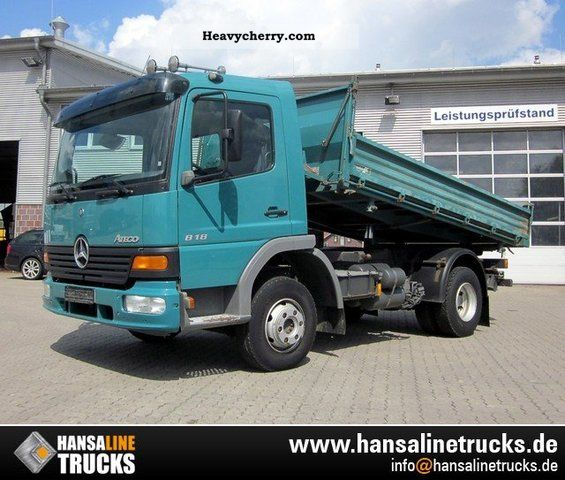 2004 Mercedes-Benz  818K Atego 4x2 3-SIDES ALU - TRUCK Van or truck up to 7.5t Three-sided Tipper photo