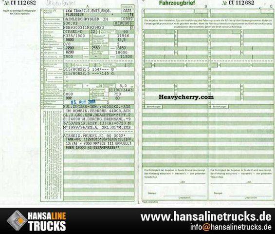 Mercedes benz oil tanker 1846l a3 u0026 diesel 13 500 for Mercedes benz engine oil specifications