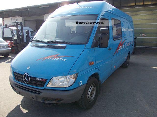Mercedes benz sprinter 316 cdi maxi 2006 box type delivery for 2006 mercedes benz sprinter specs