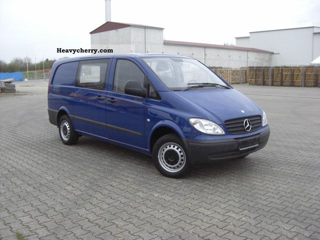 mercedes benz vito 111 long mixto 2008 box type delivery van long photo and specs. Black Bedroom Furniture Sets. Home Design Ideas