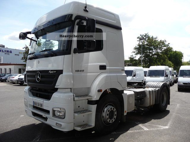 mercedes benz axor mega ii 1840 in mainz bluetec 4 2008 standard tractor trailer unit photo and. Black Bedroom Furniture Sets. Home Design Ideas