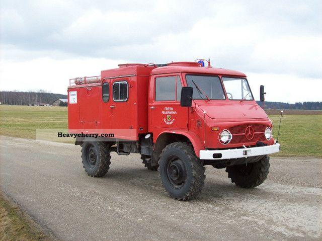 1966 Mercedes-Benz  Unimog S 404.1-wheel fire truck TLF 8 Van or truck up to 7.5t Other vans/trucks up to 7 photo