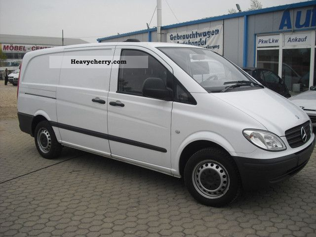 mercedes benz vito 109 cdi long doors sortimo 2008 box type delivery van long photo and specs. Black Bedroom Furniture Sets. Home Design Ideas