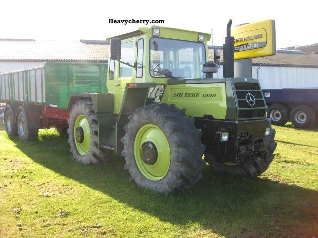 Mercedes benz mb trac 1300 1986 agricultural tractor photo for Mercedes benz tractors