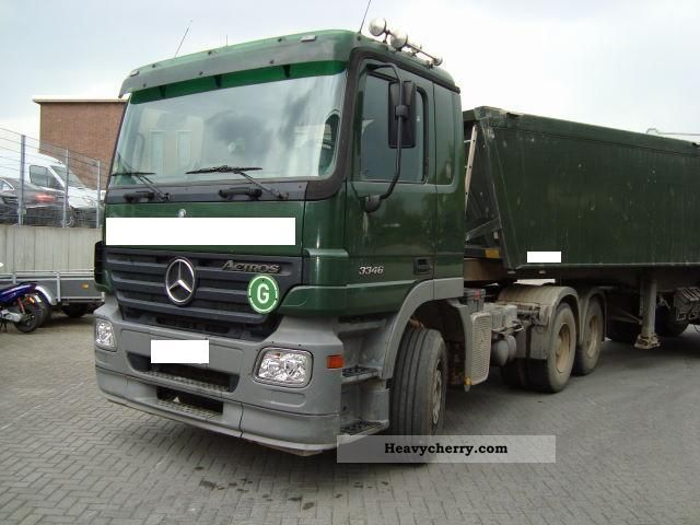 Heavy load semi trailer truck commercial vehicles with for Mercedes benz semi trucks