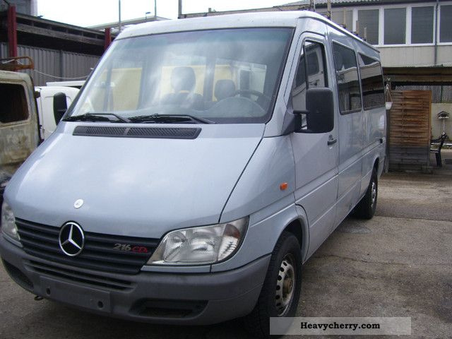 mercedes benz sprinter 216 long 2000 box type delivery van. Black Bedroom Furniture Sets. Home Design Ideas