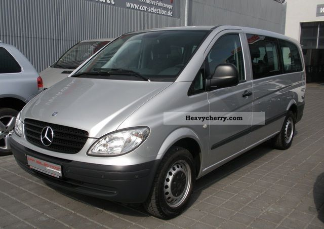 mercedes benz vito 115cdi long dpf 7sitzer auto air pdc 2006 estate minibus up to 9 seats. Black Bedroom Furniture Sets. Home Design Ideas