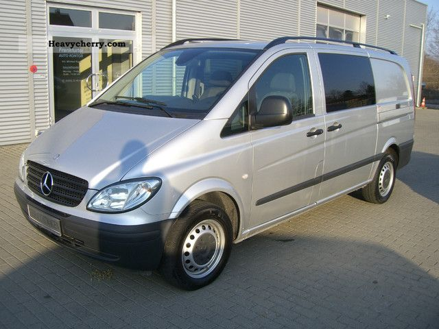 mercedes benz vito 115 cdi mixto long trucks 2xschiebet r 2009 estate minibus up to 9. Black Bedroom Furniture Sets. Home Design Ideas