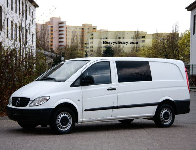 mercedes benz vito 115 cdi long 1hand fl gelt ren ahk zv euro4 2006 box type delivery van long. Black Bedroom Furniture Sets. Home Design Ideas