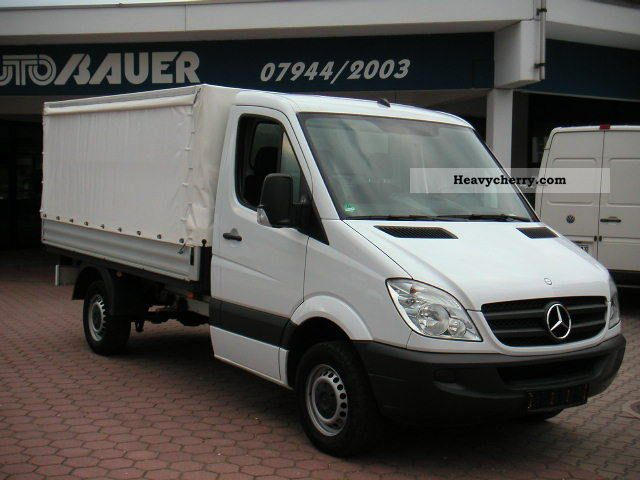 Mercedes benz 313 cdi sprinter flatbed with sliding plane for 2008 mercedes benz truck
