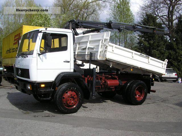 1992 Mercedes-Benz  1314 AK 4x4 tipper + crane + * wheel * Hand +1 Truck over 7.5t Truck-mounted crane photo