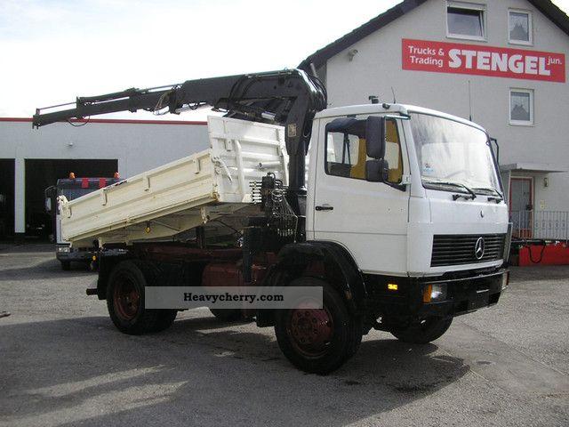 1992 Mercedes-Benz  1314 AK 4x4 tipper + crane + * wheel * Hand +1 Truck over 7.5t Three-sided Tipper photo