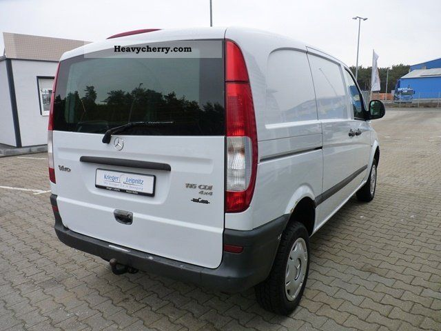 mercedes benz vito 115 cdi 4x4 automatic climate ahk k 2007 box type delivery van long. Black Bedroom Furniture Sets. Home Design Ideas