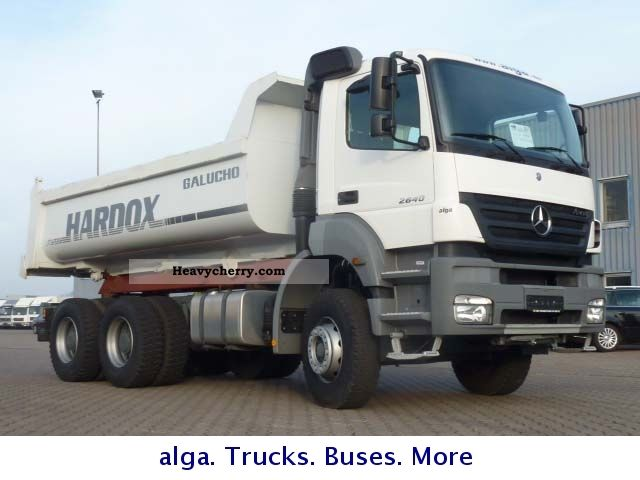 2011 Mercedes-Benz  2640 Axor dump truck 15m ³ Truck over 7.5t Mining truck photo