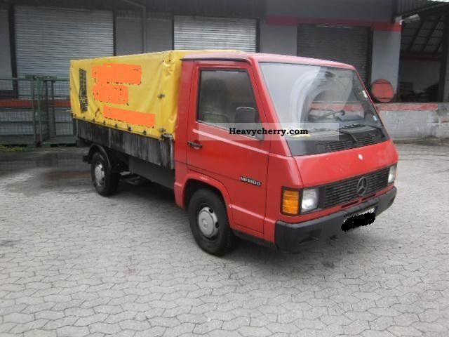 mercedes benz mb 100 d collectible 1hd 46 000 km 1991 stake body and tarpaulin truck photo and. Black Bedroom Furniture Sets. Home Design Ideas