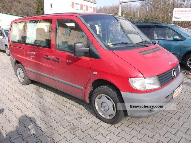 mercedes benz vito 112 cdi l air conditioning 9xsitze uvm 2001 estate minibus up to. Black Bedroom Furniture Sets. Home Design Ideas
