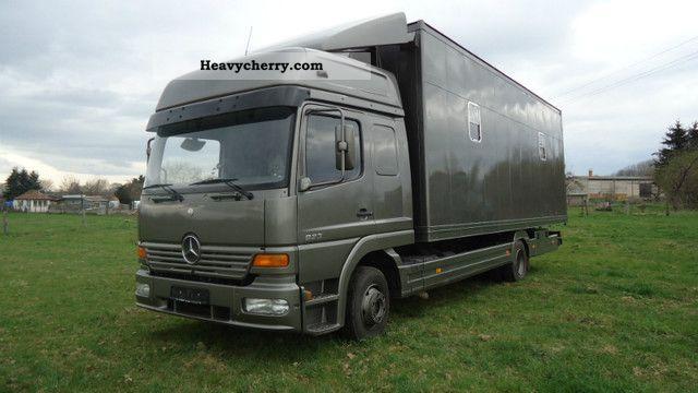 Mercedes Benz Atego 823 Horsebox 5 Horses Sthz Air 1999 Cattle Truck Photo And Specs