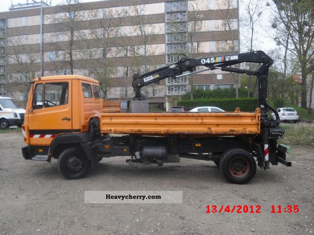 1996 Mercedes-Benz  814K with crane Hiab 817 not only 173Tkm Van or truck up to 7.5t Tipper photo