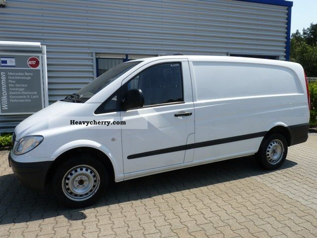 mercedes benz vito 109 cdi long heater cargo 2007 box type delivery van high and long. Black Bedroom Furniture Sets. Home Design Ideas