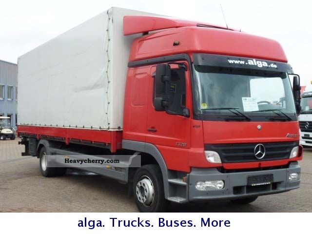2005 Mercedes-Benz  Atego 1328 L, 7.1 mtr. , 2 to.Hebebühne, high roof Van or truck up to 7.5t Stake body and tarpaulin photo