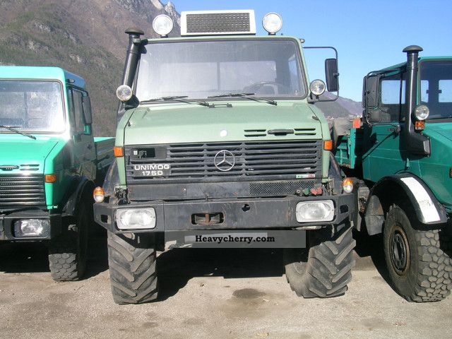 mercedes benz unimog 1750 1992 three sided tipper truck photo and specs rh heavycherry com
