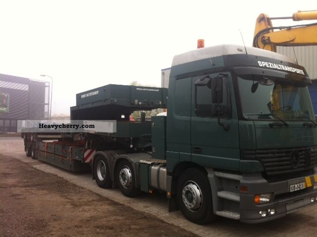1999 Mercedes-Benz  2543 Actros low loader + Scheurle Semi-trailer truck Standard tractor/trailer unit photo