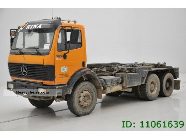 Mercedes benz 2631 6x4 tipper crane 1994 tipper truck for Mercedes benz maker