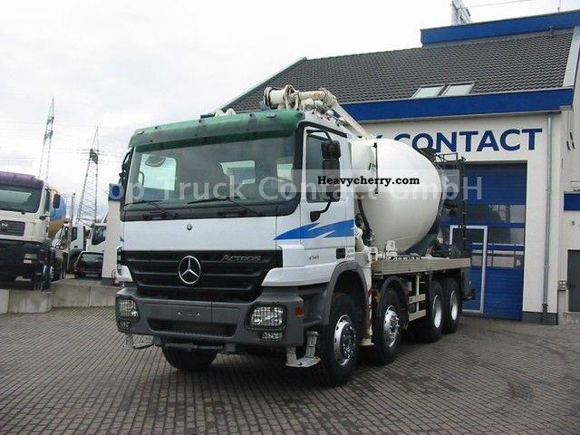 Mercedes-Benz 4141 B 8x4 mixer pump Schwing / Stetter 26m/7m