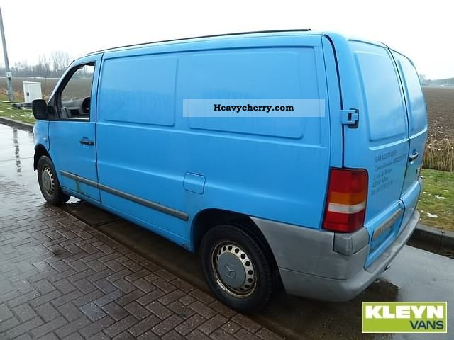 mercedes benz vito 108 cdi 2001 box type delivery van photo and specs. Black Bedroom Furniture Sets. Home Design Ideas