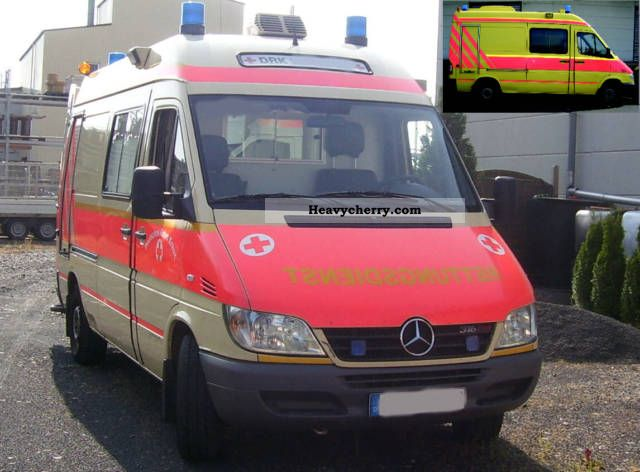 2004 Mercedes-Benz  316 CDI with ATM, ambulance Van or truck up to 7.5t Ambulance photo