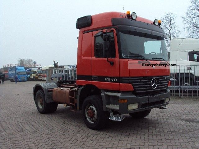 Mercedes benz 2040 4x4 steel suspension 1999 heavy load for Mercedes benz semi trucks