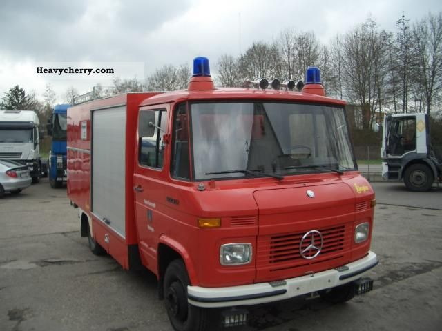 1980 Mercedes-Benz  L608D, fire engine Van or truck up to 7.5t Box photo