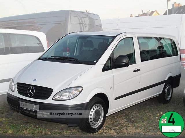 mercedes benz vito 111 cdi long 2009 estate minibus up to 9 seats truck photo and specs. Black Bedroom Furniture Sets. Home Design Ideas