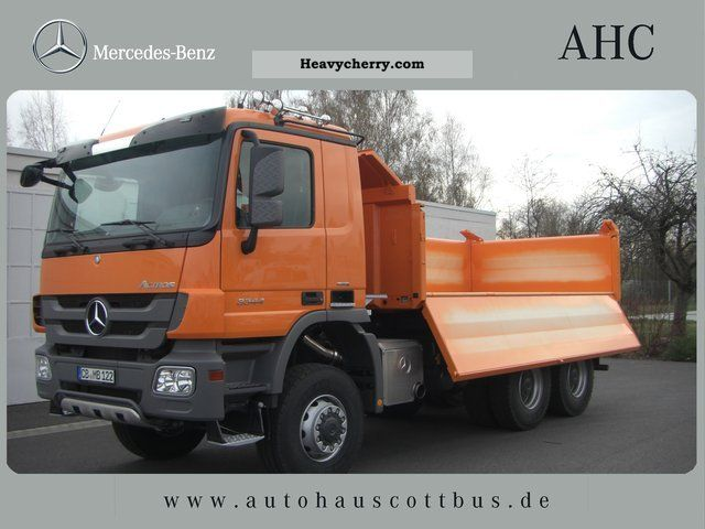 Mercedes benz actros 3344 ak 6x6 2012 three sided tipper for 2012 mercedes benz truck