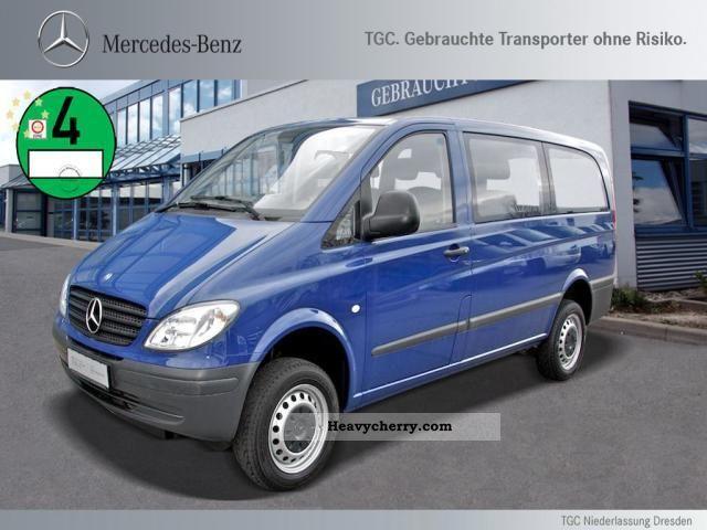 mercedes benz vito 111 cdi combi long 6 seat 4x4 auto 2008 estate minibus up to 9 seats truck. Black Bedroom Furniture Sets. Home Design Ideas