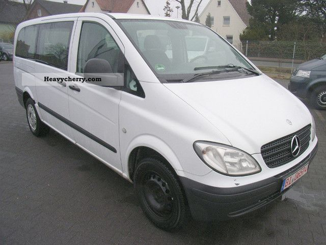 mercedes benz vito 115 cdi c 5 seater long eu4 2006 box type delivery van long photo and specs. Black Bedroom Furniture Sets. Home Design Ideas