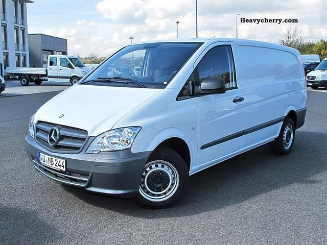 mercedes benz vito 110 cdi 2012 box type delivery van long photo and specs. Black Bedroom Furniture Sets. Home Design Ideas